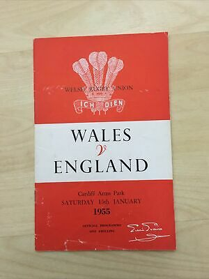 1955 Wales V England Five Nations Champions International Rugby Union Programme