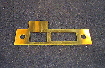 "Antique Salvaged Strike Plates for Mortise Locks NSTP32 9//32"" Spacing"