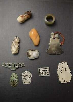 10 Antique Chinese Jade Carvings Qing Dynasty And Later