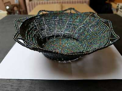 Handmade Bead Basket from South Africa