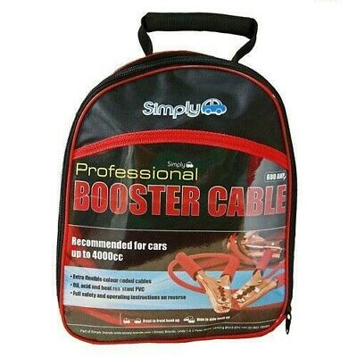 Surge protected HD 600amp Jump Booster Cables 3M FREE DELIVERY