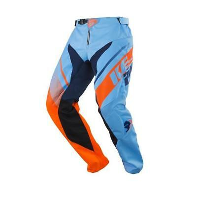 Pull-In MX Pantaloni Challenger-BLU-ORANGE Motocross Enduro MX CROSS