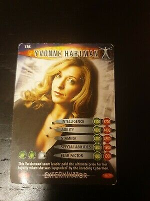 Doctor Who Battles In Time Collector Cards Yvonne Hartman 186 BBC 2006