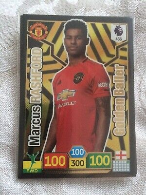 ADRENALYN XL PREMIER LEAGUE 2019/20 #466 Marcus Rashford (Man Utd) GOLDEN BALLER