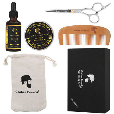 6 PCs Professional Mustache Beard Growth Grooming & Trimming Care Kit for Men