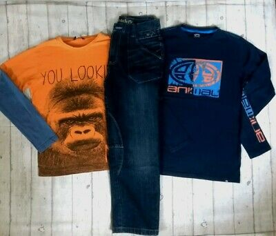 11 12 Years Animal Long Sleeve Tops Jeans Boys Trendy Winter Clothes Bundle