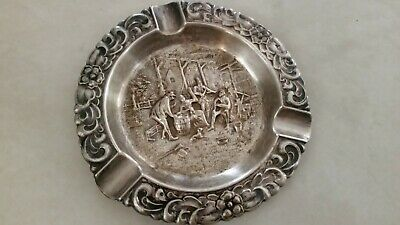 Vintage Silverplate  Ashtray  4.5''