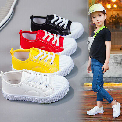 Kids Girls Baby Toddler Classic Canva Shoes Children Outdoor Sport Sneaker Shoes