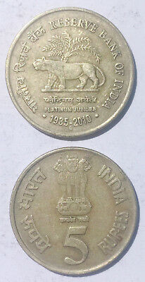 INDIA 2010 WHOLESALE LOT OF 10 SET 4 COIN PLATINUM JUBILEE RBI TIGER UNC