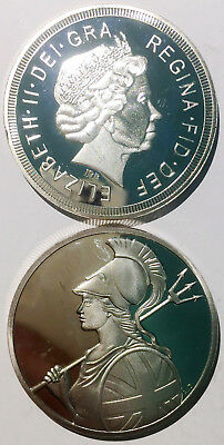 Bitcoin 1 cent medal silver plated 41mm magnetic medal token coin proof AU-UNC