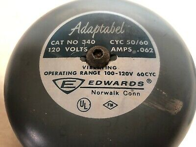 EDWARDS Adaptabel 340 Bell VINTAGE antique SCHOOL 120V