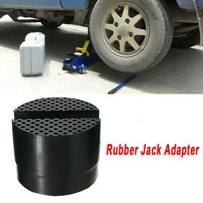 1*Car Rubber Slotted Rail Hydraulic Floor Jack Guard Disk Pad Frame Rail Adapter