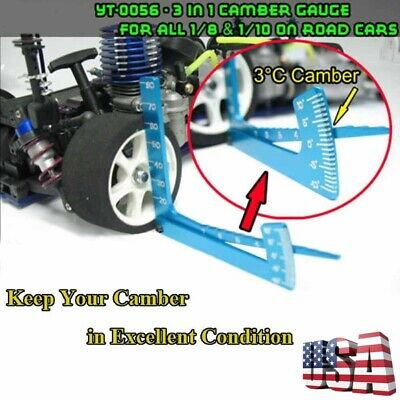 RC 1//10 Camber Gauge Kyosho ACE LOSI HPI On Road Buggy Drift Tires Tyres Tools