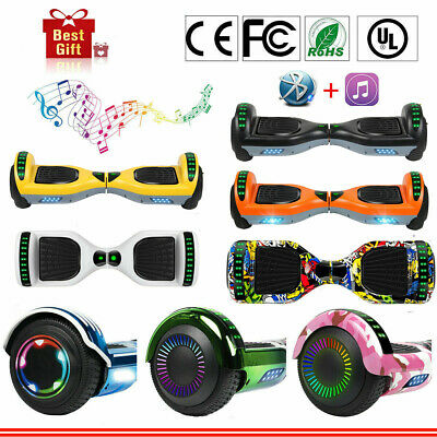"""NEW 6.5"""" Bluetooth Hoverboard Self Balance Electric LED Scooter Free Bag Gift"""