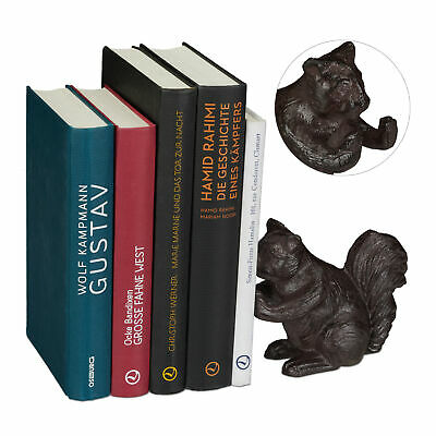 Cast Iron Animal Design Bookend, Book Support, Shelf Stand