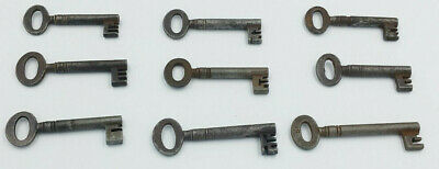 Job Lot of 9 Antique Iron Keys. Church - Jail - Chateau. Architectural Salvage.