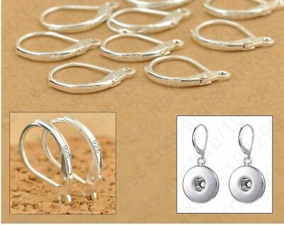 Sterling Silver Earring Ear Hooks Lever Back Open  individually stamped DIY