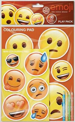 Emoji Play Pack Colouring Pads Pencils Childrens Activity Set Party Bag Filler