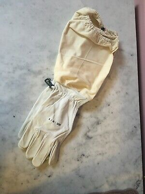Beekeeping Leather And Canvas Gloves Size M