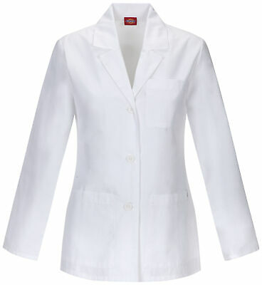 "Dickies EDS 84401A Women's 28"" Women's Lab Coat Medical Uniforms Scrubs"