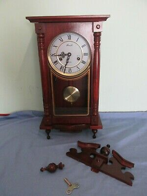 Lincoln 31 Day Mechanical Pendulum Wall Clock Wooden Case