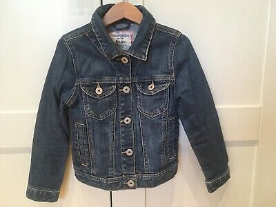 Mini Boden Girls Denim Jacket Coat Age 5-6 VGUC