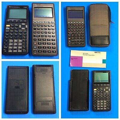 HP-48SX Scientific Expandable Calculator + Texas Instruments TI-85 Graphing