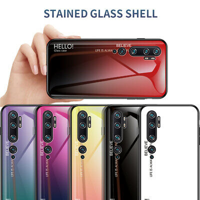For Xiaomi Redmi 8A Note 8T 8 Pro Luxury Gradient Tempered Glass Hard Case Cover