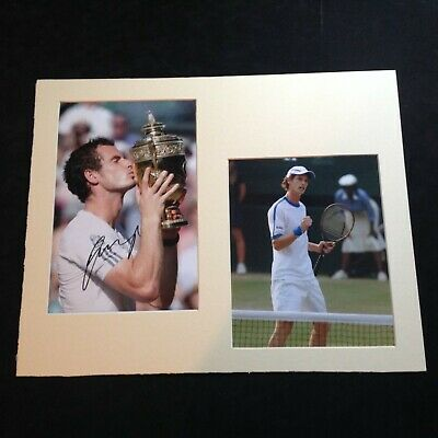 """Tennis - Andy Murray - Genuine Hand Signed Picture Mounted to 16"""" x 20"""" With COA"""