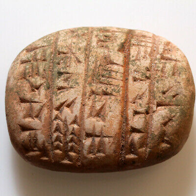 Very Rare Circa 2500-1000 Bc Near East Terracotta Tamplet With Inscriptions