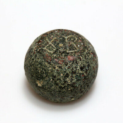 MUSEUM QUALITY BYZANTINE BARREL SHAPED WEIGHT 54.02 grams