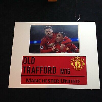 Manchester Utd - Jesus & Lingard Hand Signed with Stadium Street Sign + COA