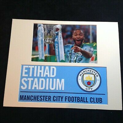 Manchester City Raheem Sterling Genuine Hand Signed with Metal Street Sign  COA