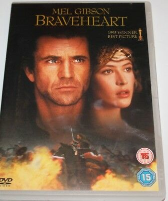 Braveheart (DVD, 2004) Mel Gibson - William Wallace - Rated 15, Region 15, PAL.
