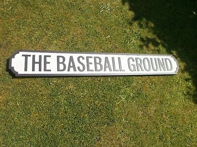 Superb Derby County Antique Cast Iron Look Street Sign, The Baseball Ground