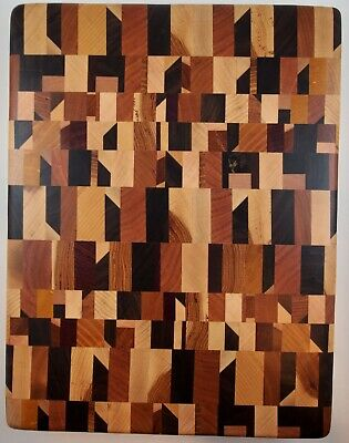 Chaos Pattern End Grain Cutting Board