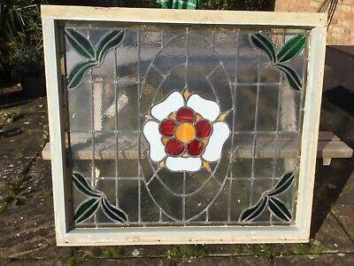Tudor Rose Stained Glass Window