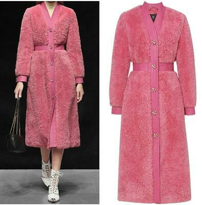 High-end Women Single Breasted Cashmere Outwear Sexy Wool Coat Winter Warm Party