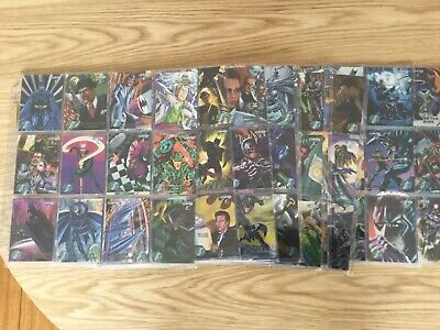 BATMAN FOREVER METAL COMPLETE SET OF TRADING CARDS By FLEER Issued YEAR 1995