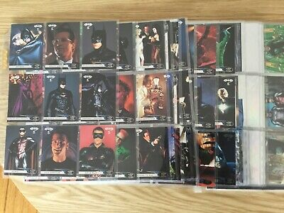 BATMAN FOREVER THE MOVIE TRADING CARDS COMPLETE By FLEER ULTRA Issued YEAR 1995