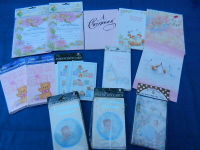 Vintage BABY Christening, Announcement & Thank You Cards - Collection