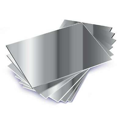 SILVER MIRROR Finish 3mm thickness A3 ACRYLIC SHEET 420mm x 297mm