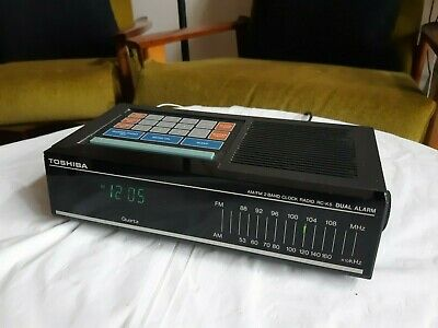 Vintage/Retro 1980's Toshiba RC-K5 Clock AM/FM Radio-Made in Japan