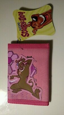 Scooby-Doo Pink Vinyl Trifold Kids Wallet *New*