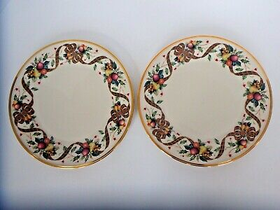 """Lenox """"Holiday Tartan"""" 2 Dinner Plates 10 3/4"""" Dimensions Collection."""