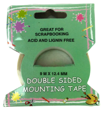 Double Sided Mounting Tape, Great for Scrapbooking, Acid & Lignin Free