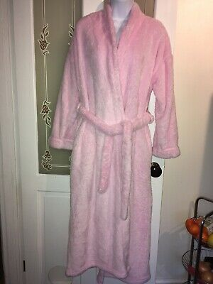 Pink Fluffy Dressing Gown Size 8-10 Long From M&S
