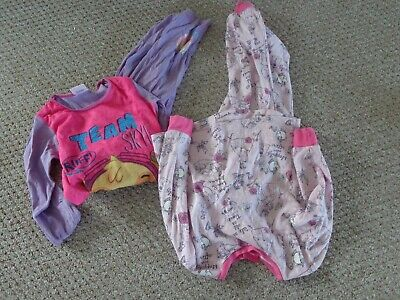 2 pair of girls used pj's aged 3/4 - 4