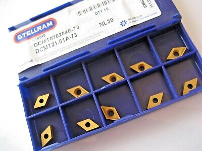 10 x DCMT070204E-73 NL30 ATI STELLRAM DCMT SOLID CARBIDE TURNING INSERTS  P303