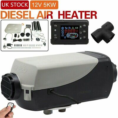 12V 5000W LCD Monitor Air diesel Fuel Heater Planar for Trucks Bus Boats Car RV